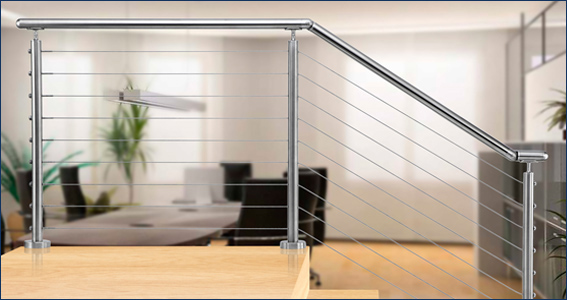 316 Stainless Steel Cable Railing - Handrail Extrusions ...