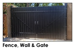 Fence, Wall, & Gate
